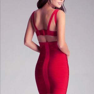 Bebe red mini dress. New with tags